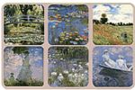 Monet Set 6 French Vintage Style Coasters Drinks Holder Mat Painter